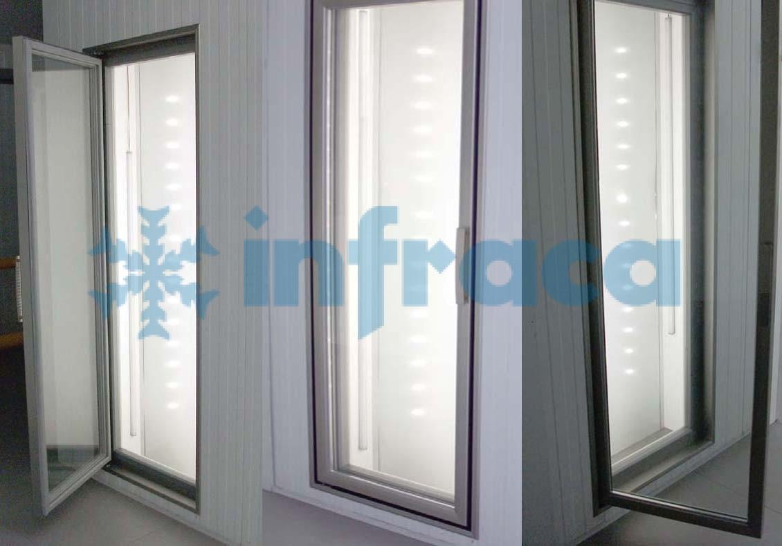 стеклянные холодильном двери