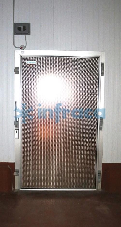 Распашная холодильная дверь нержавеющая сталь